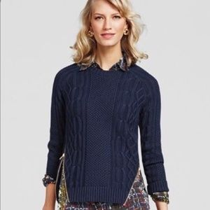 CAbi Zipper Pullover Sweater #899 Navy Size M